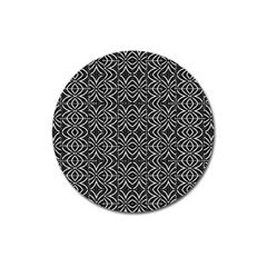 Black And White Tribal Print Magnet 3  (round)