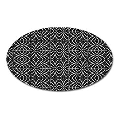Black And White Tribal Print Oval Magnet