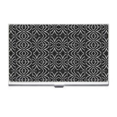 Black And White Tribal Print Business Card Holders