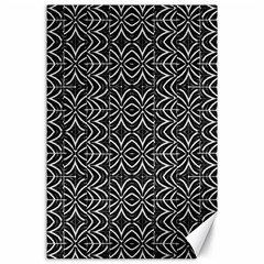 Black And White Tribal Print Canvas 24  X 36