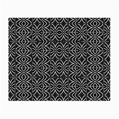 Black And White Tribal Print Small Glasses Cloth (2 Side)