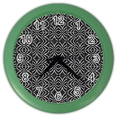 Black And White Tribal Print Color Wall Clocks