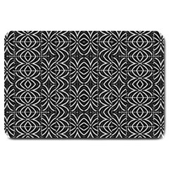 Black And White Tribal Print Large Doormat