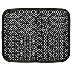 Black And White Tribal Print Netbook Case (large)