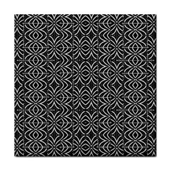 Black And White Tribal Print Face Towel