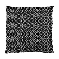 Black And White Tribal Print Standard Cushion Case (two Sides)