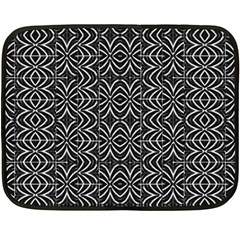 Black And White Tribal Print Fleece Blanket (mini)