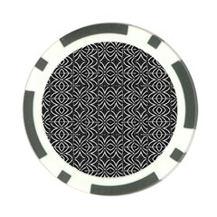 Black And White Tribal Print Poker Chip Card Guard (10 Pack)
