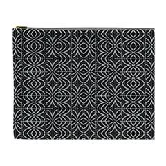 Black And White Tribal Print Cosmetic Bag (xl)