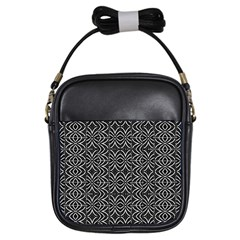 Black And White Tribal Print Girls Sling Bags