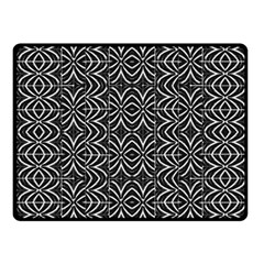 Black And White Tribal Print Fleece Blanket (small)