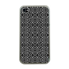 Black And White Tribal Print Apple Iphone 4 Case (clear)