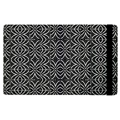 Black And White Tribal Print Apple Ipad 3/4 Flip Case