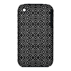 Black And White Tribal Print Iphone 3s/3gs