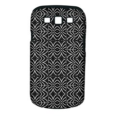 Black And White Tribal Print Samsung Galaxy S Iii Classic Hardshell Case (pc+silicone)