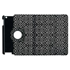 Black And White Tribal Print Apple Ipad 3/4 Flip 360 Case