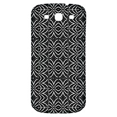 Black And White Tribal Print Samsung Galaxy S3 S Iii Classic Hardshell Back Case