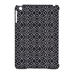 Black And White Tribal Print Apple Ipad Mini Hardshell Case (compatible With Smart Cover)
