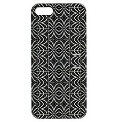 Black And White Tribal Print Apple Iphone 5 Hardshell Case With Stand
