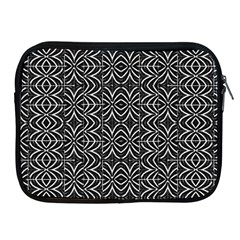 Black And White Tribal Print Apple Ipad 2/3/4 Zipper Cases