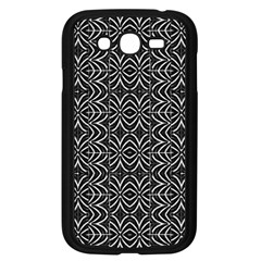 Black And White Tribal Print Samsung Galaxy Grand Duos I9082 Case (black)