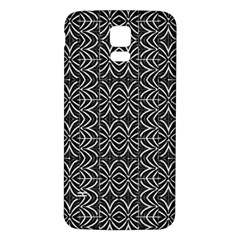 Black And White Tribal Print Samsung Galaxy S5 Back Case (white)