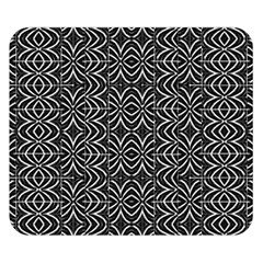 Black And White Tribal Print Double Sided Flano Blanket (small)