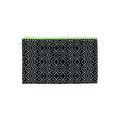 Black And White Tribal Print Cosmetic Bag (xs)