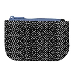 Black And White Tribal Print Large Coin Purse