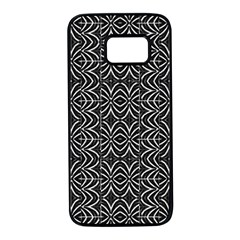 Black And White Tribal Print Samsung Galaxy S7 Black Seamless Case