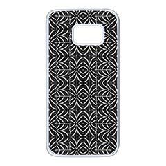 Black And White Tribal Print Samsung Galaxy S7 White Seamless Case