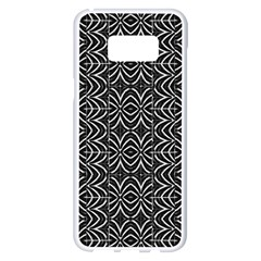 Black And White Tribal Print Samsung Galaxy S8 Plus White Seamless Case