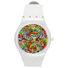 P 867 Round Plastic Sport Watch (m)