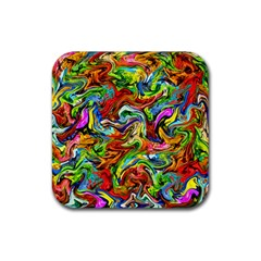 Pattern 21 Rubber Square Coaster (4 Pack)