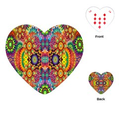 Artwork By Patrick Pattern 22 Playing Cards (heart)