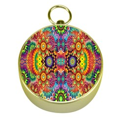 Artwork By Patrick Pattern 22 Gold Compasses