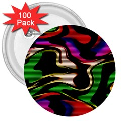 Hot Abstraction With Lines 1 3  Buttons (100 Pack)