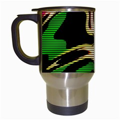 Hot Abstraction With Lines 1 Travel Mugs (white)