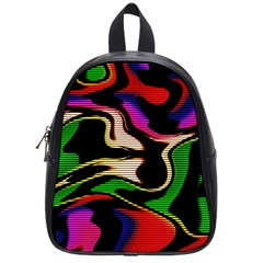Hot Abstraction With Lines 1 School Bag (small)