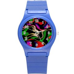 Hot Abstraction With Lines 1 Round Plastic Sport Watch (s)