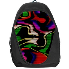 Hot Abstraction With Lines 1 Backpack Bag
