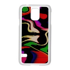 Hot Abstraction With Lines 1 Samsung Galaxy S5 Case (white)