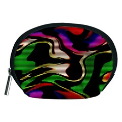 Hot Abstraction With Lines 1 Accessory Pouches (medium)