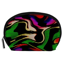 Hot Abstraction With Lines 1 Accessory Pouches (large)