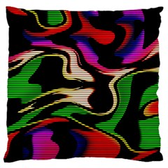 Hot Abstraction With Lines 1 Standard Flano Cushion Case (two Sides)