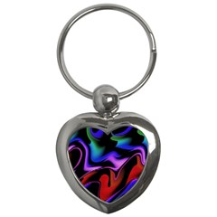 Hot Abstraction With Lines 2 Key Chains (heart)