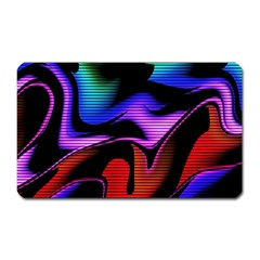Hot Abstraction With Lines 2 Magnet (rectangular)