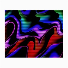 Hot Abstraction With Lines 2 Small Glasses Cloth