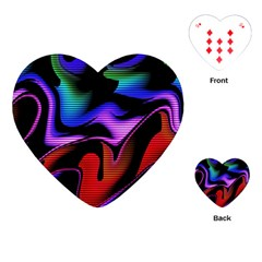 Hot Abstraction With Lines 2 Playing Cards (heart)