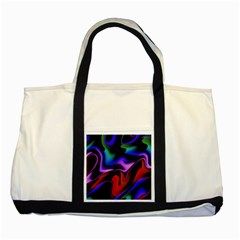Hot Abstraction With Lines 2 Two Tone Tote Bag